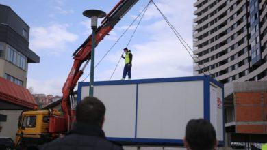 Photo of Ispred Zavoda za hitnu medicinsku pomoć KS postavljen kontejner za trijažu