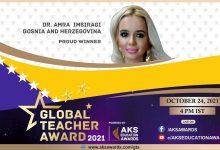 Photo of Amra Imširagić iz Tuzle dobitnica Međunarodne nagrade za najboljeg učitelja